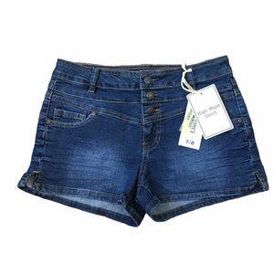 Blue Spice High Waist Denim Shorts Size 7/8 NWT